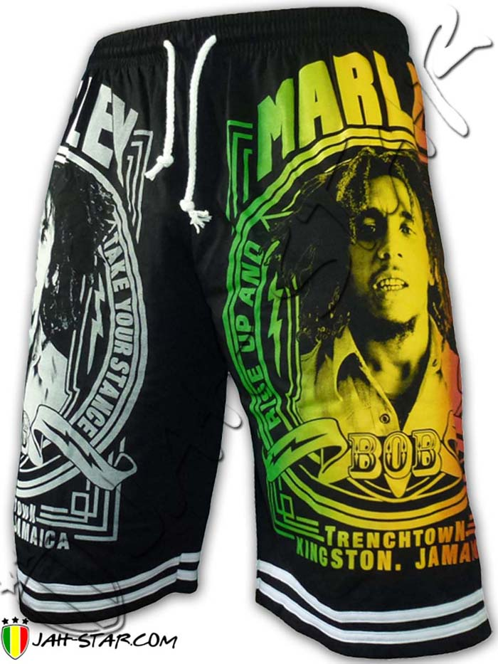 Short Bob Marley Trench Town Kingston Jamaica Free Size