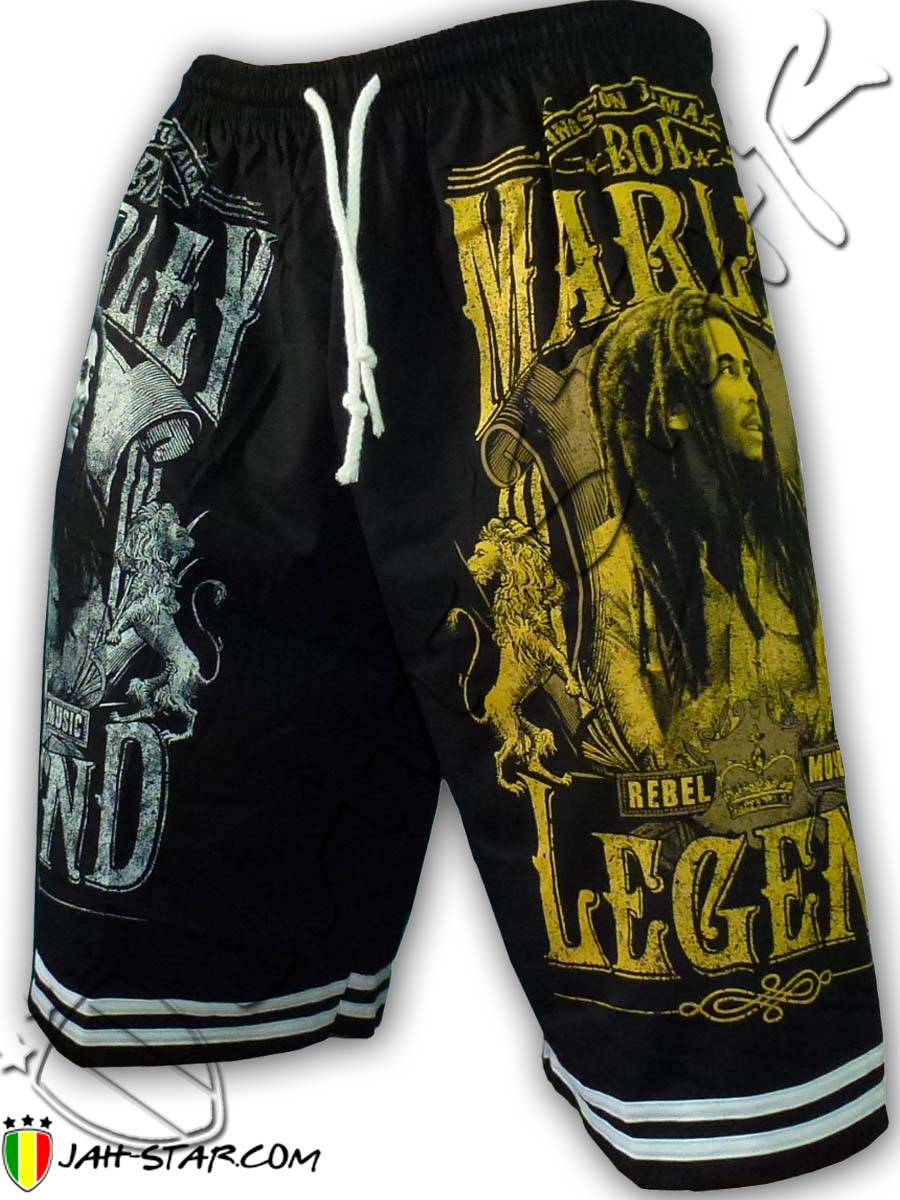 Short Bob Marley The Legend Free Size