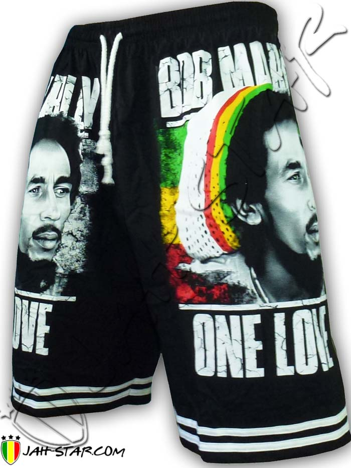 Short Bob Marley One Love Jamaica Free Size